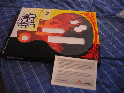 Guitar Hero 3 Wii faceplate